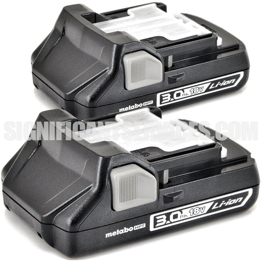 Hitachi Metabo BSL1830C 339782 18V Li-Ion 3.0Ah Slide Battery 2 Pack