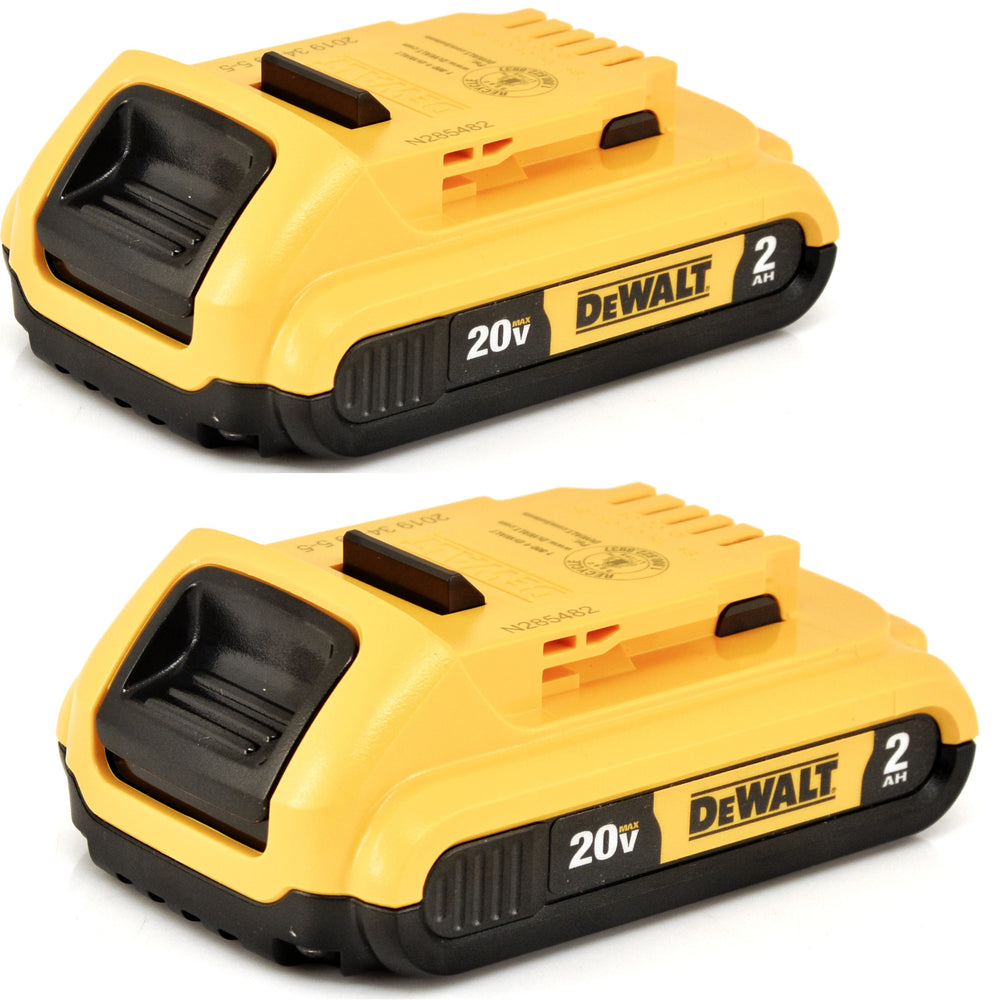 DeWALT DCB203-2 20V Max XR 2AH Compact Lithium Ion Battery 2 Pack