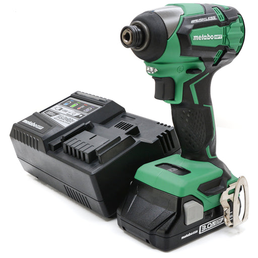 "Metabo 18V WH18DBFL2 Lithium Ion Brushless 1/4"" Impact Driver 3.0 Ah Battery Kit"