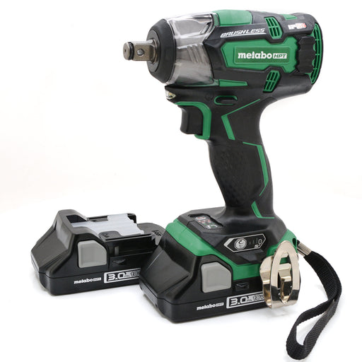 "Metabo HPT WR18DBDL2 18V Li-Ion Brushless 1/2"" Impact Wrench 3.0 Ah Batteries"