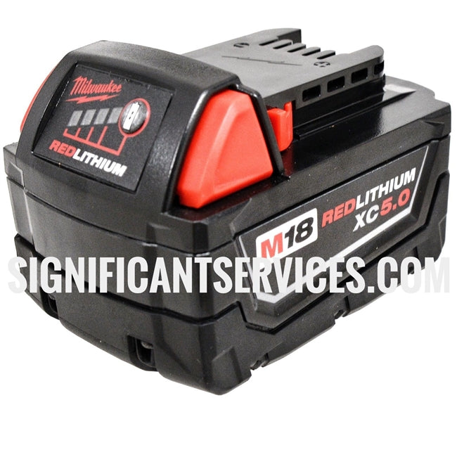 (Qty 6) New Milwaukee M18 Red Lithium XC 5.0 AH Extended Capacity Batteries