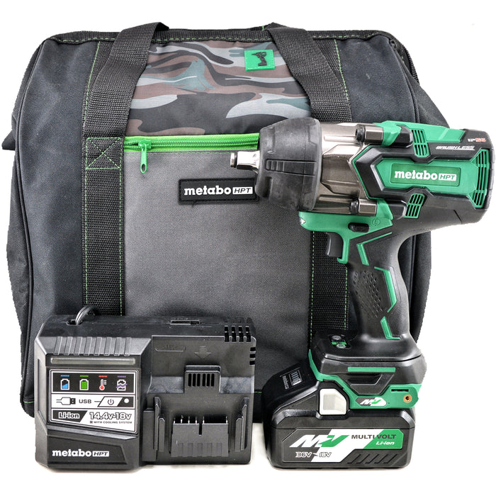 Metabo HPT WR36DBQ4M 36V 18V 4.0 Ah Multivolt Brushless 1/2 in Impact Wrench Kit