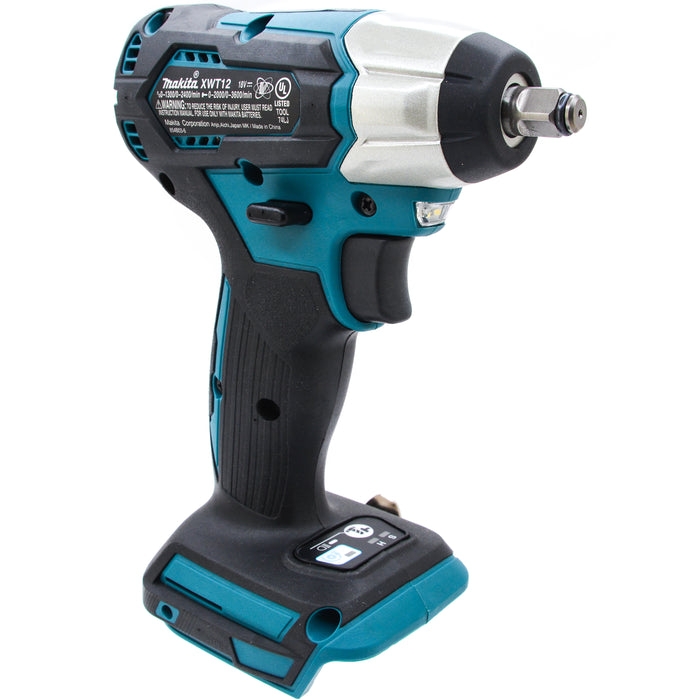 "Makita XWT12ZB 18V LXT Brushless Cordless 3/8"" 2 Speed Impact Wrench"