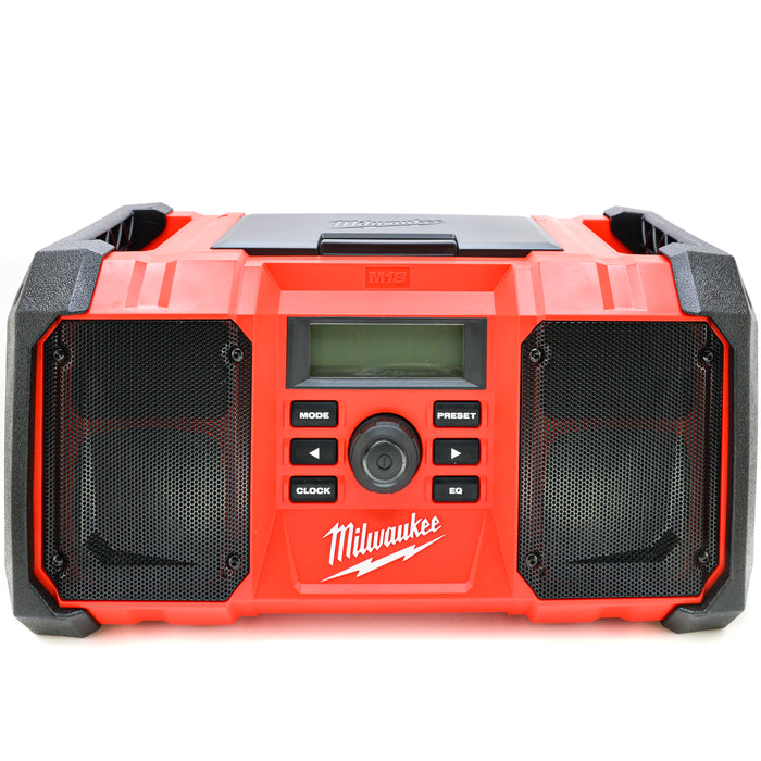 Milwaukee 2890-20 M18 Cordless Battery Jobsite Radio USB Charging Port