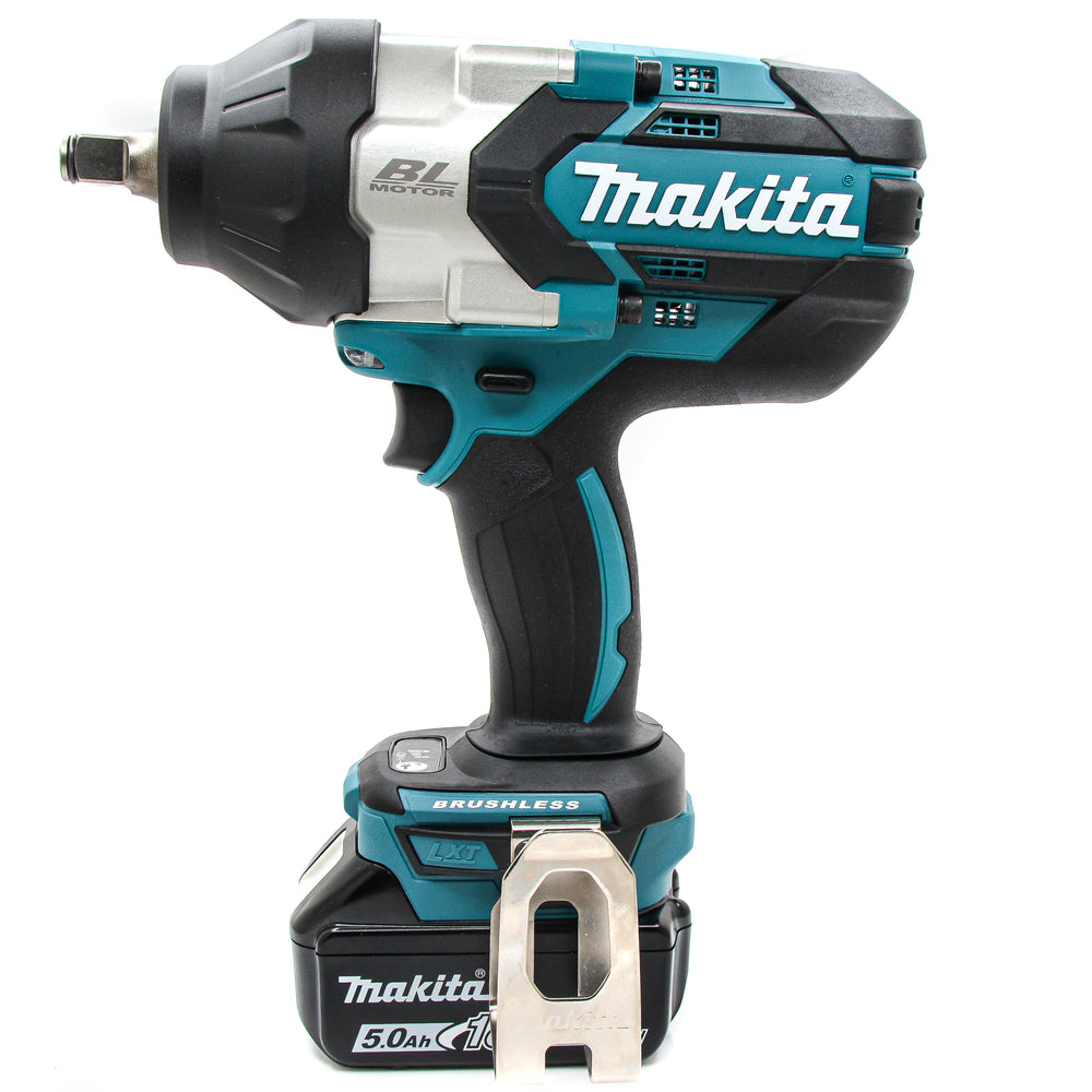 New Makita XWT08Z 18V LXT Li-Ion Brushless 1/2 in Impact Wrench 5.0 Ah Battery
