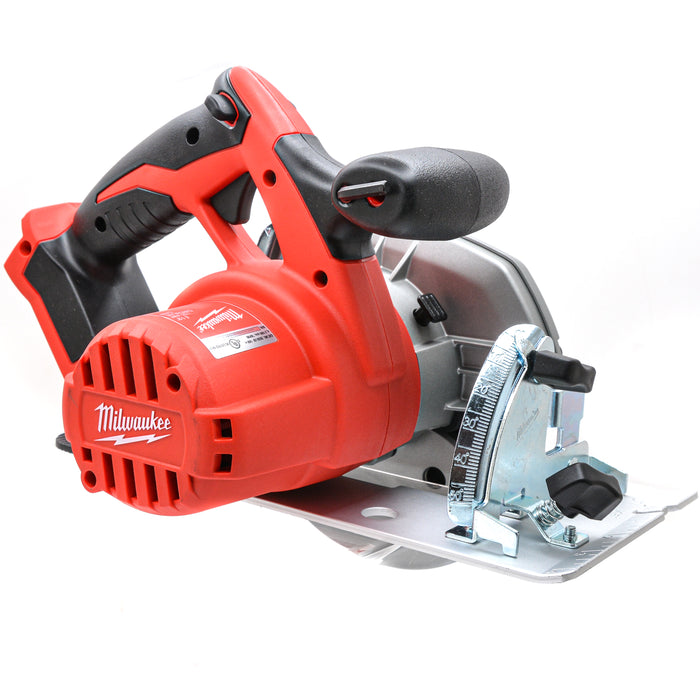 "Milwaukee 2630-20 M18 18V Li-Ion 6-1/2"" Cordless Circular Saw 5.0 Ah Batteries"