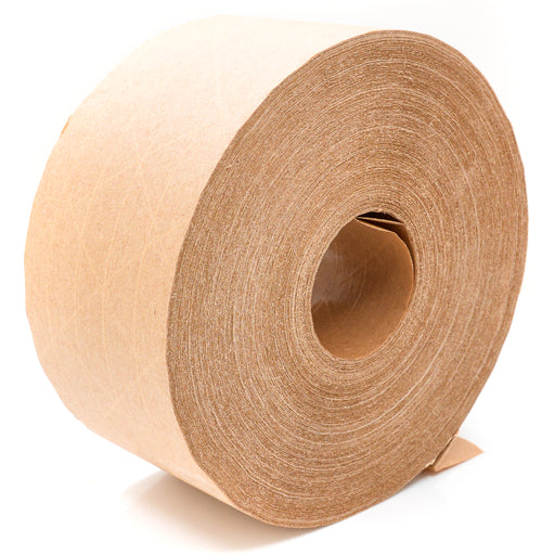 New Brown Kraft Paper Gummed Tape 70 mm x 500' Reinforced Water Activated 1 Roll
