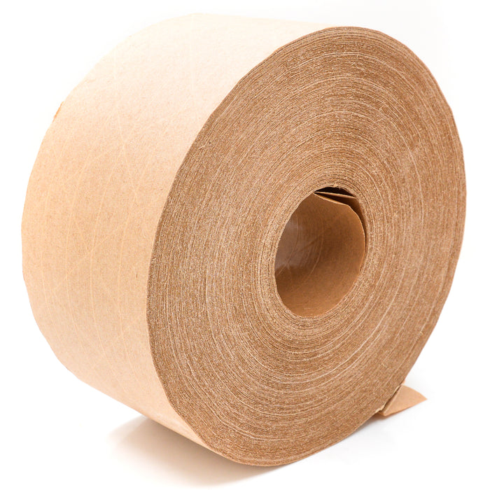 New Brown Kraft Paper Gummed Tape 70 mm x 500' Reinforced Water Activated 3 Roll