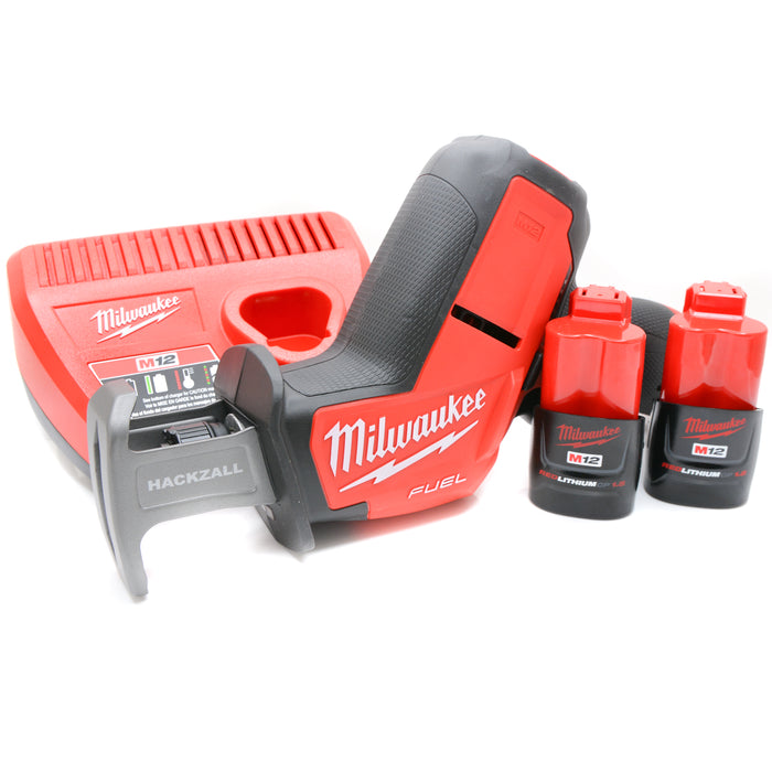 Brand New MILWAUKEE 2520-20 M12 12V Fuel Brushless Hackzall 1.5 Ah Batteries Kit