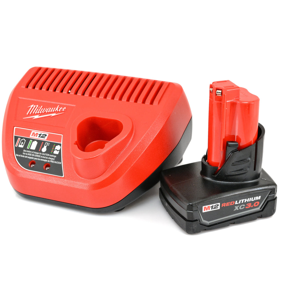 Milwaukee M12 RED LITHIUM 3 AH XC  Battery  48-59-2401 Charger