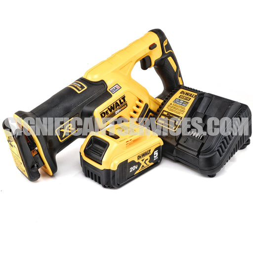 DeWALT DCS367 20V 20 Volt MAX XR Brushless 5.0 Ah Compact Reciprocating Saw Kit