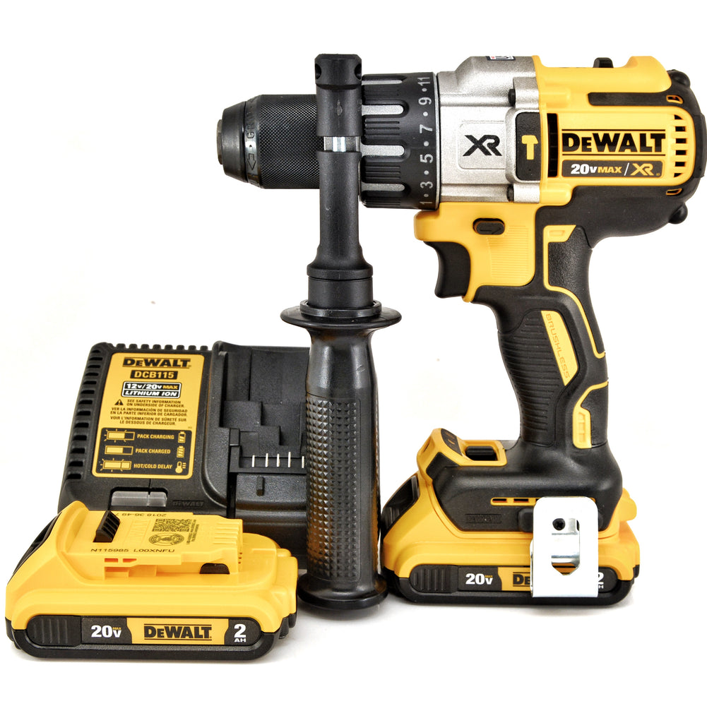DEWALT 20V MAX XR Li-Ion Brushless 3-Speed 1/2 in. Hammer Drill 2- 203 Battery KIT