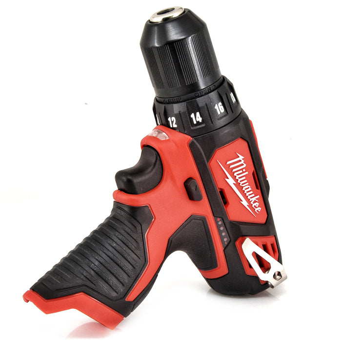 "MILWAUKEE 2407-20 M12 12V 12 Volt LED Cordless Lithium-Ion 3/8"" Drill Driver"