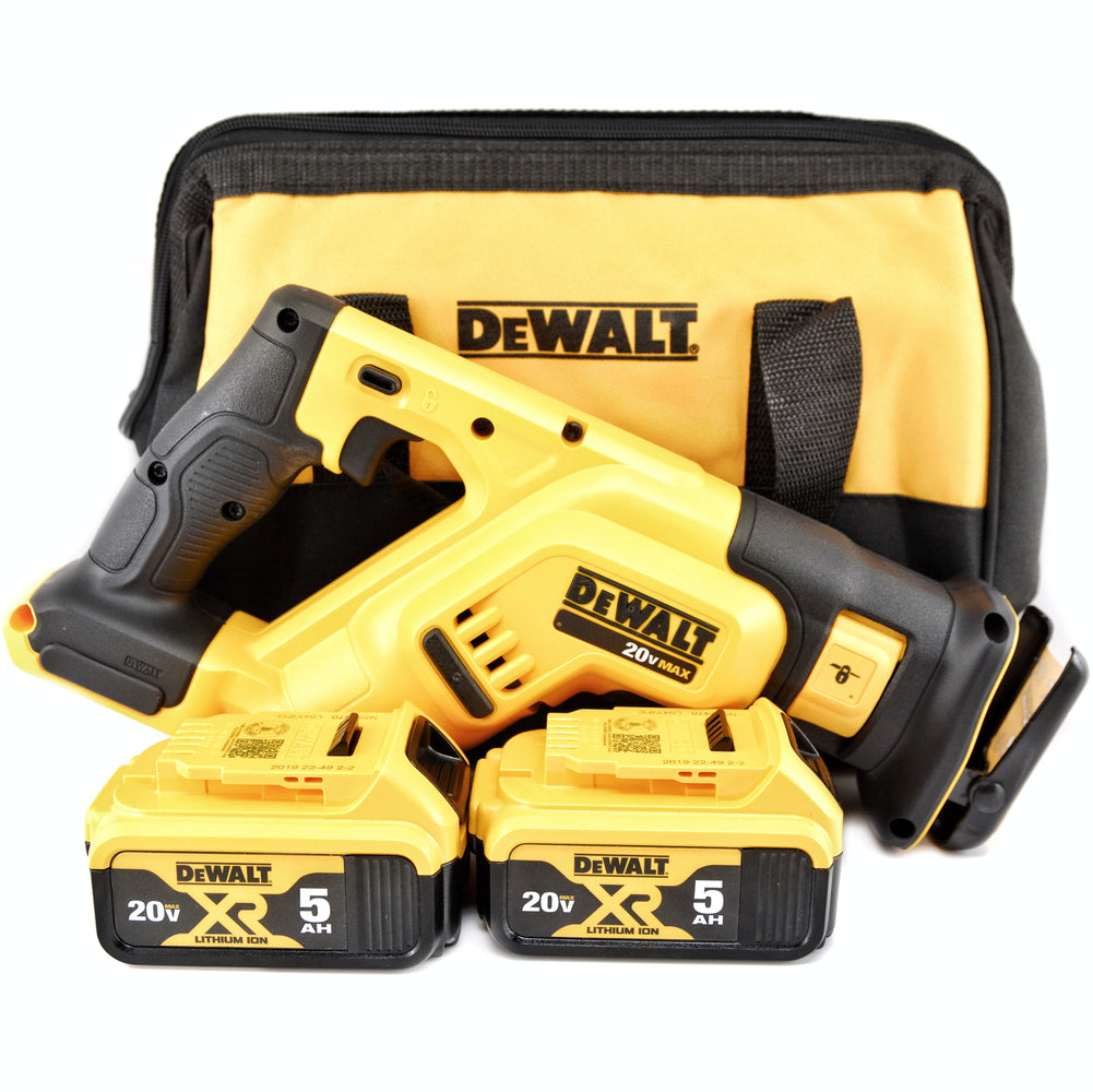 DeWALT DCS387B 20V MAX Li-Ion Compact Reciprocating Saw Sawzall 5.0 Ah Batteries
