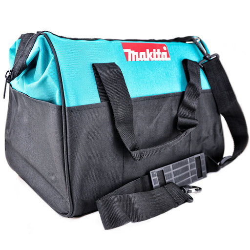 "MAKITA Contractor Tool Bag Storage Case Outside Pockets 14"" x 11"" x 9"" Strap"