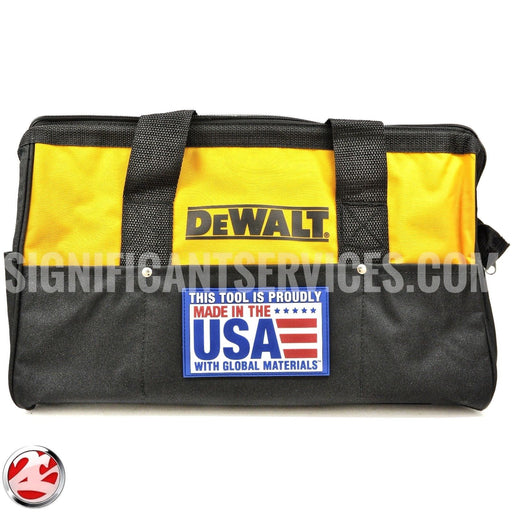 "DeWALT Large 19""x12"" Heavy Duty Nylon Canvas Contractor Pocket Tool Bag Case"