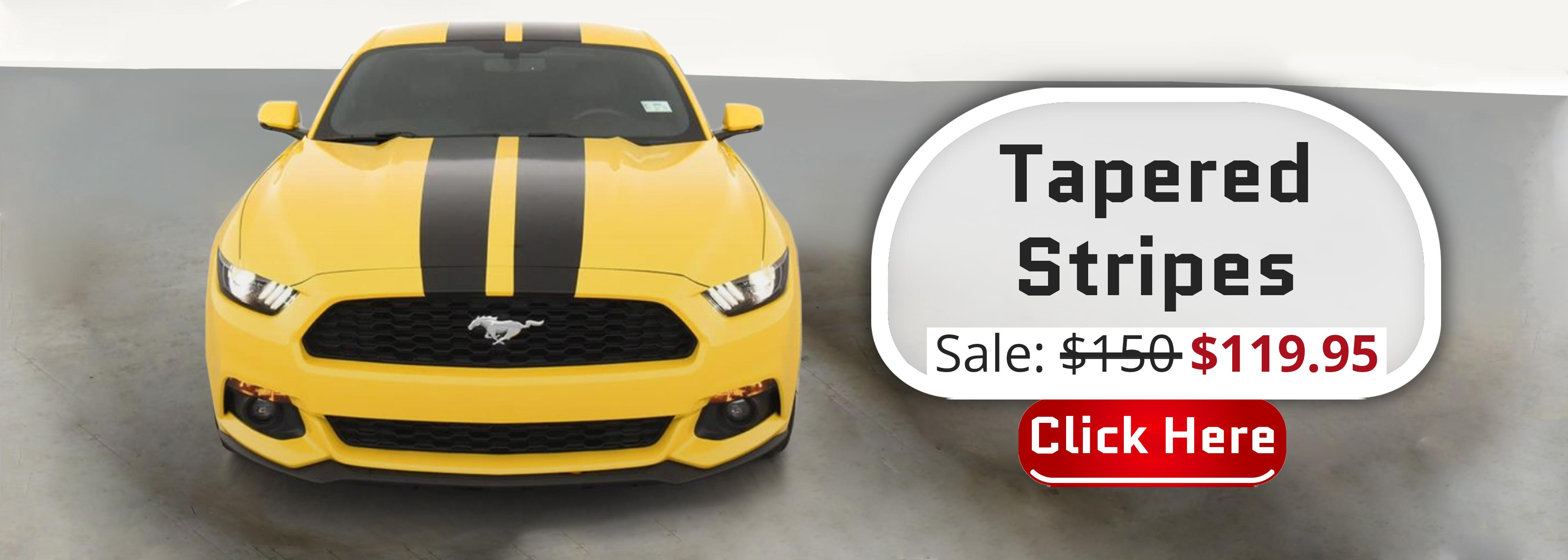 Tapered Slim Racing Stripes Ford Mustang s550