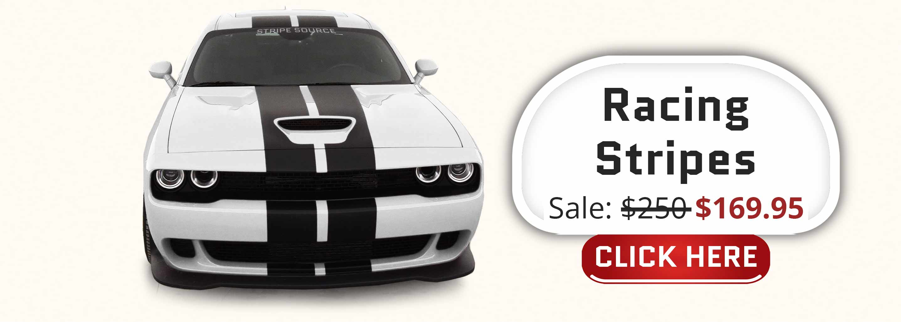 matte black racing stripes on a white dodge challenger pre-cut full stripe kits for sale