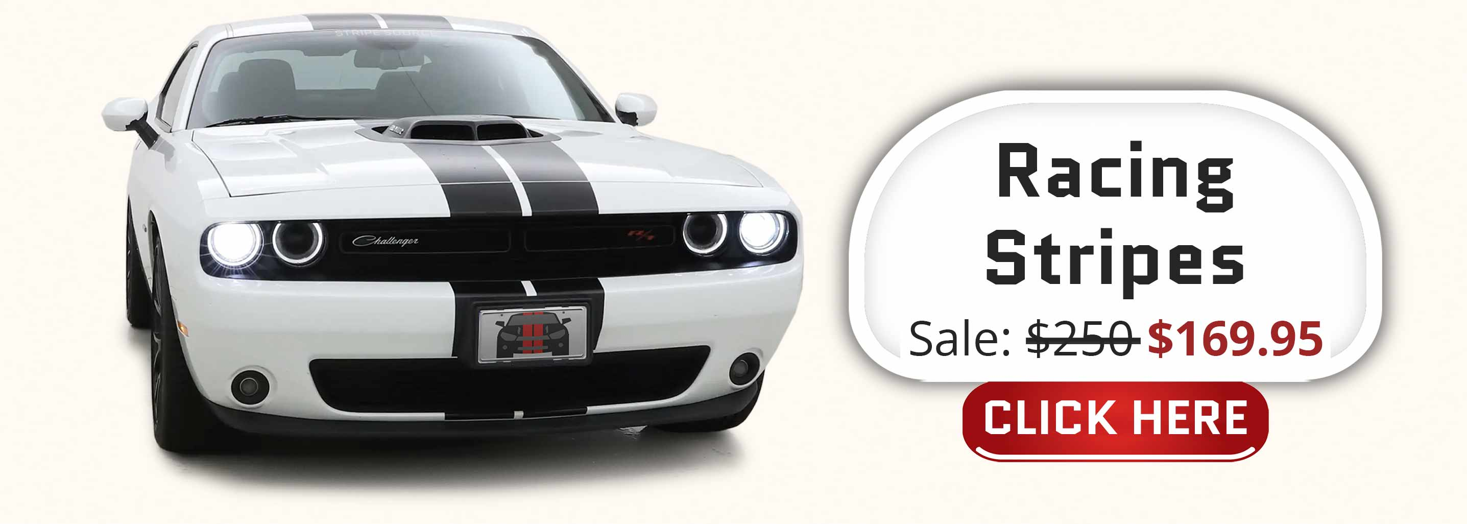 Shaker challenger with a set of black dual twin racing rally stripes 2015 2016 2017 2018 2019 2020 2021