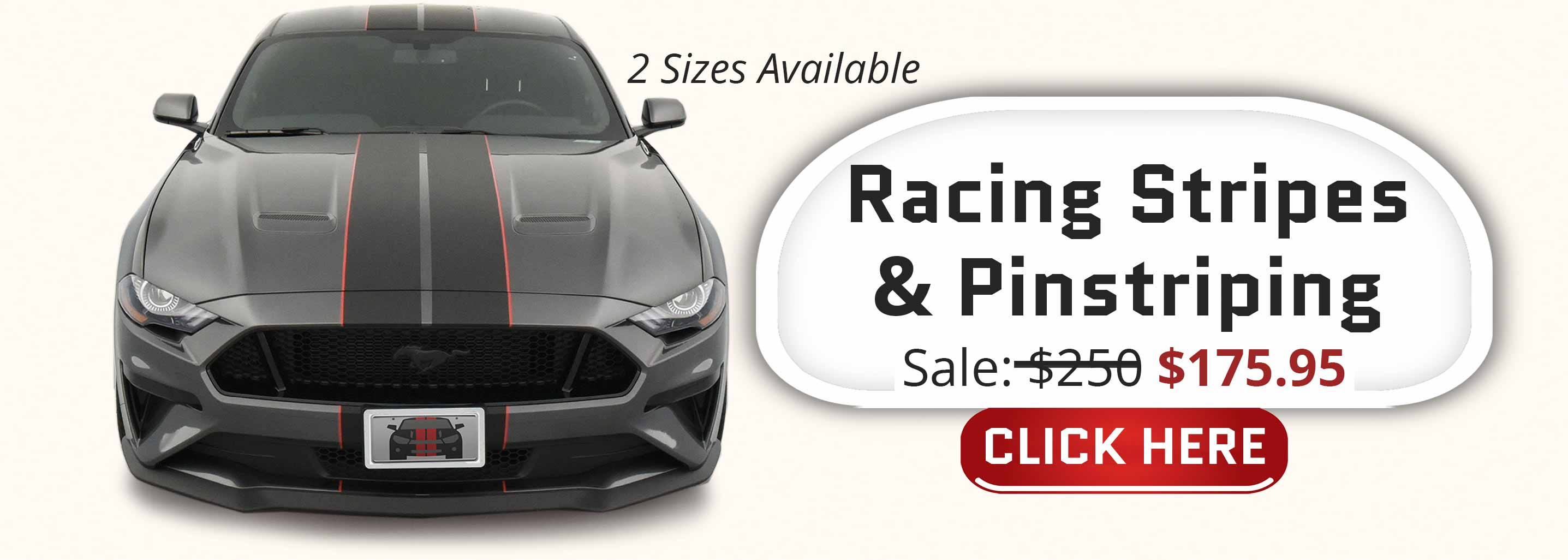 shelby gt350 racing stripes matte black with red pinstriping two tone stripe kit 2018 2019 2020 2021