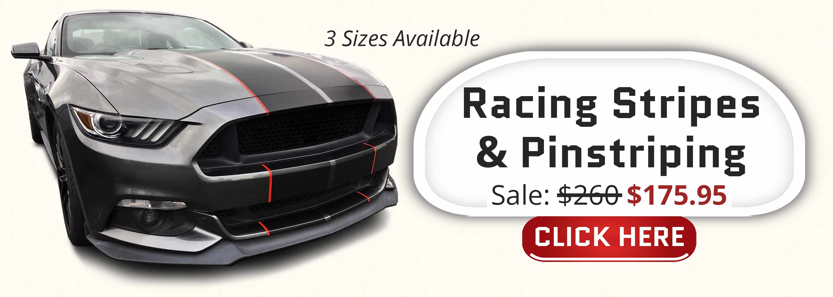 shelby gt350 racing stripes matte black with red pinstriping two tone stripe kit 2015 2016 2017