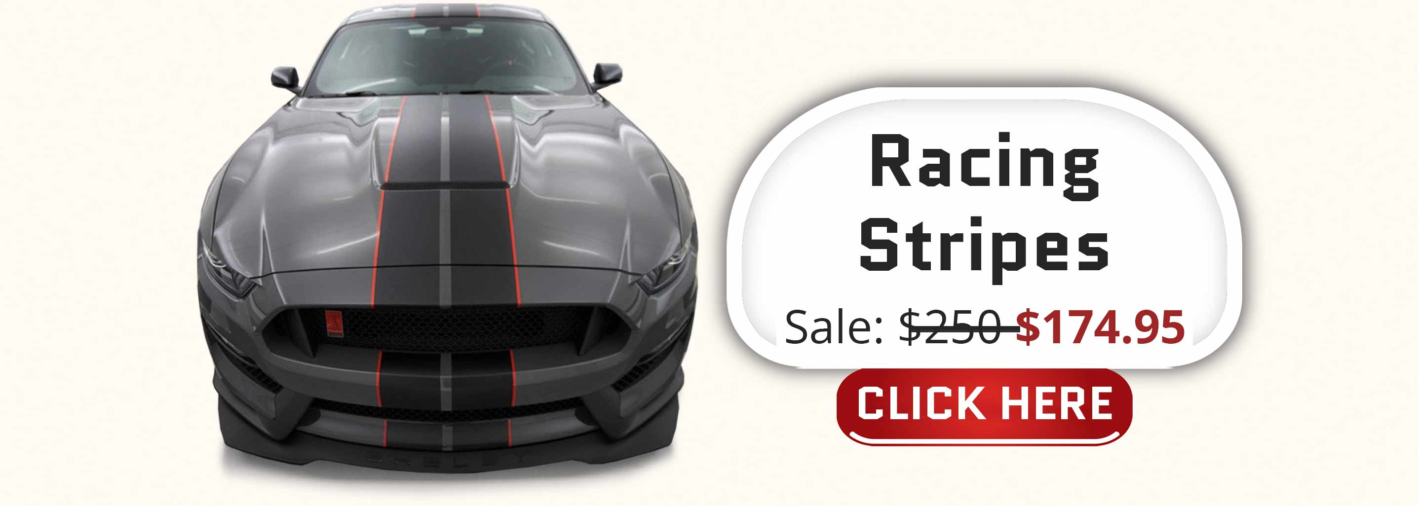 shelby gt350 dual racing rally stripes with colored pinstriping two tone stripe kit