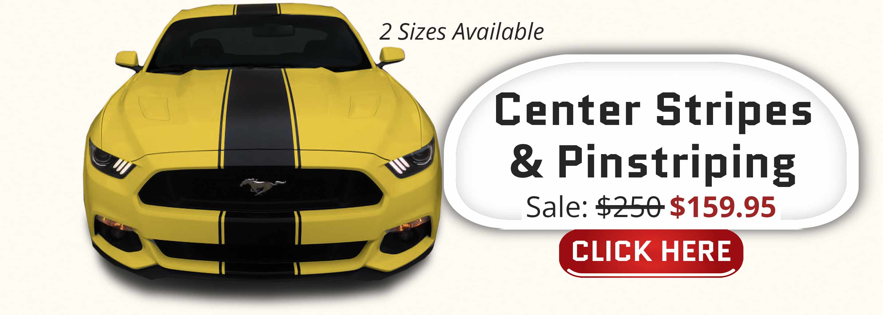 super snake style center racing stripes with matching pinstriping pre-cut stripe kit