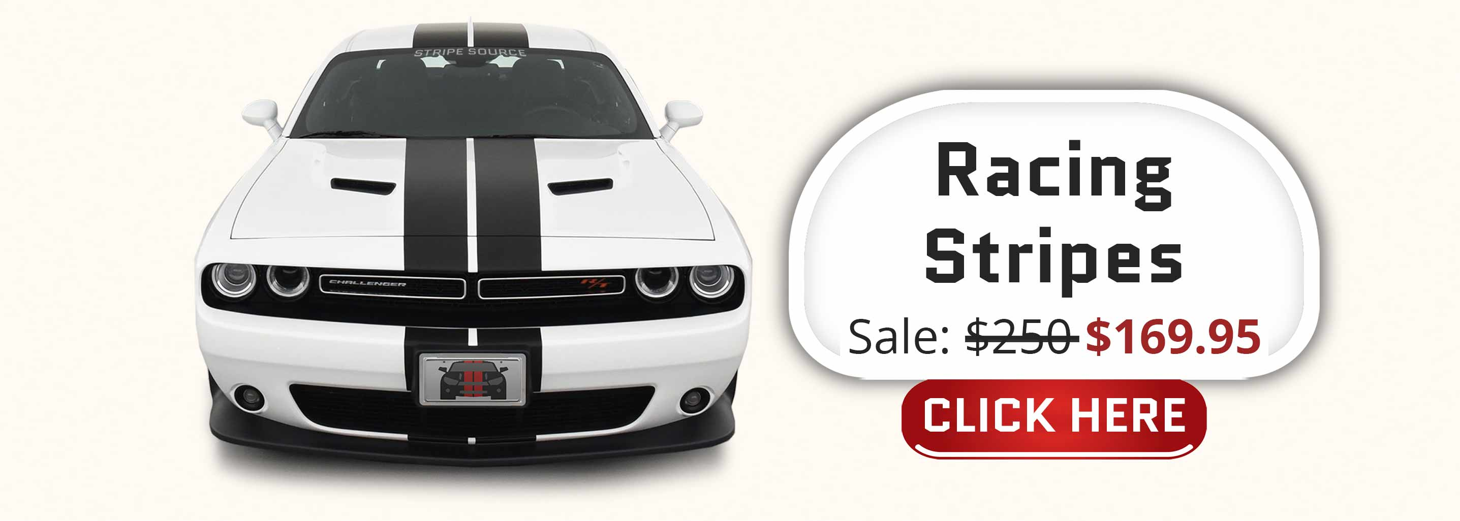 Dual black racing stripes on a red dodge challenger sxt r/t t/a 2015-2016-2017-2018-2019-2020-2021