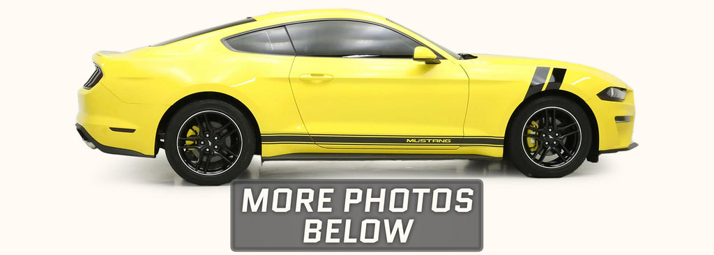 Ford Mustang Side Stripes with Optional MUSTANG Text (2015-2021)