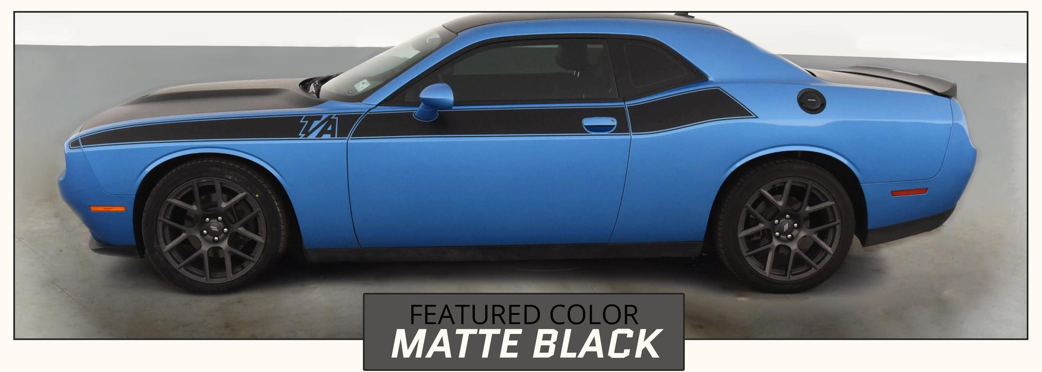 Dodge Challenger T/A Side Stripes (2015-2020, Mopar, SRT, Hemi, R/T, SE) - Stripe Source
