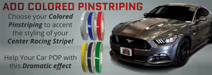 Ford Mustang Center Stripes (2015-2017, Super Snake Style) - Stripe Source