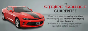 Chevrolet Camaro Center Racing Stripes (RS, LT, LS, SS, 2SS, 2016, 2017, 2018) - Stripe Source