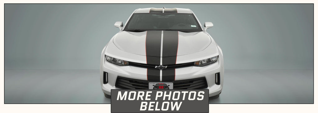 Chevrolet Camaro Full Rally Racing Stripes with Pinstripes (for 2016, 2017, 2018) - Stripe Source
