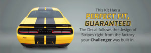 Dodge Challenger Racing Stripes with Pinstripes (Rally/Dual/Lemans, 2015-2020) - Stripe Source
