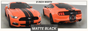Ford Mustang Racing Stripes with Pinstripes (Rally/Dual/Lemans, 2015-2017) - Stripe Source