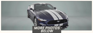 Mustang Racing Stripes with Pinstripes (Rally/Dual/Lemans, for 2018-2021) - Stripe Source