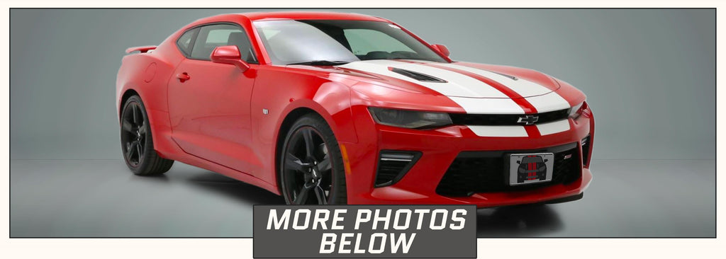 Chevrolet Camaro Racing Stripes (Rally/Dual/Decal, 2016, 2017, 2018) - Stripe Source