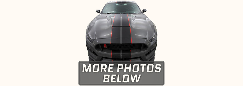 Shelby GT350 Stripes with Pinstriping (Dual Rally Racing Stripes for a Ford Mustang, 2015-2020)