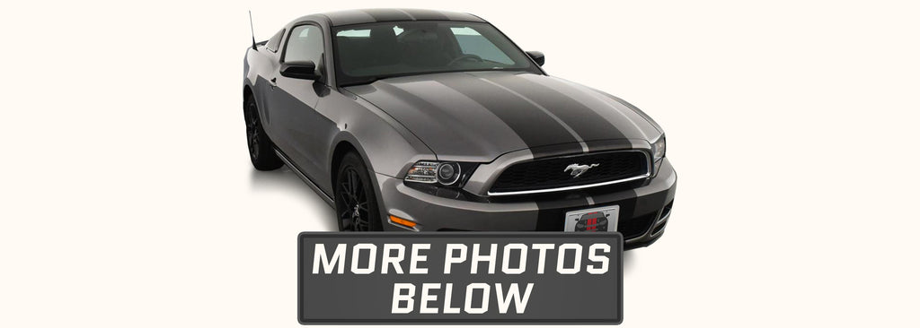 Ford Mustang Dual Rally Racing Stripes with Optional Pinstriping (2013-2014)