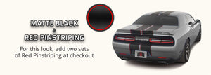 Dodge Challenger Shaker Dual Rally Racing Stripes with Optional Pinstriping (2015-2021) - Stripe Source