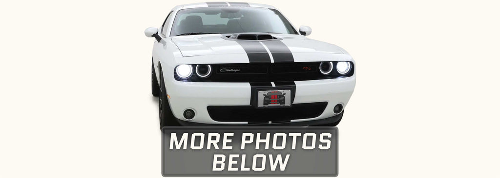 Dodge Challenger Shaker Dual Rally Racing Stripes with Optional Pinstriping (2015-2021)