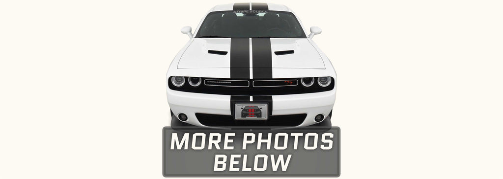 Dodge Challenger Twin Rally Racing Stripes with Optional Pinstriping (2015-2021)