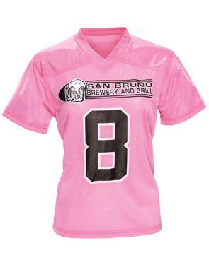 Tricot Mesh Flag Football Jersey Rosa