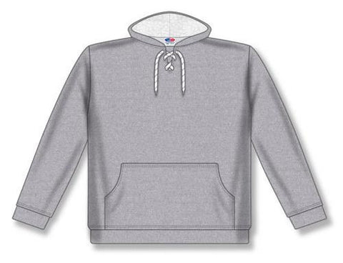 AK Lace Neck Heather sudadera con capucha gris