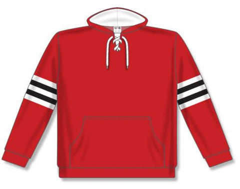 AK NHL Team Stripe Chicago sudadera roja