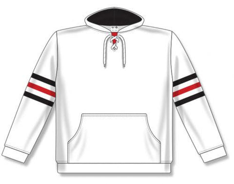 AK NHL Team Stripe Chicago sudadera blanca con capucha
