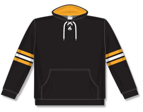 AK NHL Team Stripe Boston sudadera negra con capucha