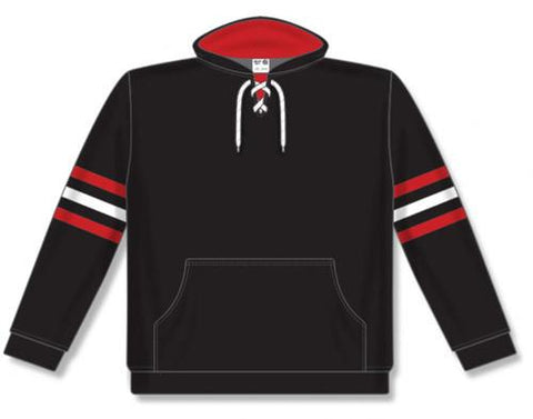 AK NHL Team Stripe Chicago sudadera negra con capucha