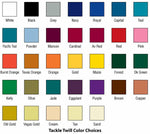 Selecciones de color para Tackle Twill