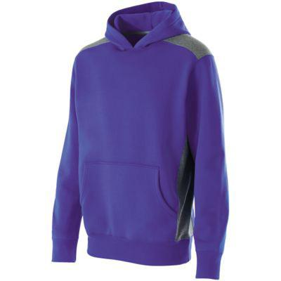 Breakout 60/40 Heavyweight Hoodie Purple / Vintage Grey